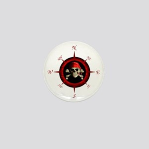 Pirate Compass Rose Mini Button