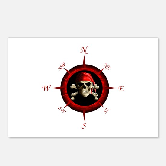 Pirate Compass Rose Postcards (Package of 8)