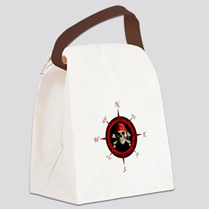 Pirate Compass Rose Canvas Lunch Bag