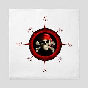 Pirate Compass Rose Queen Duvet