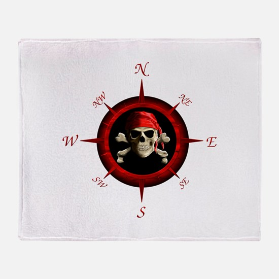 Pirate Compass Rose Throw Blanket