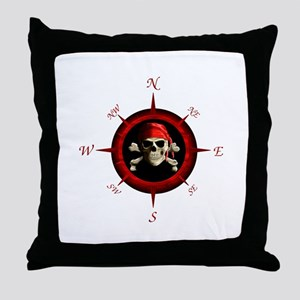 Pirate Compass Rose Throw Pillow