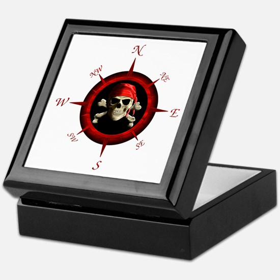 Pirate Compass Rose Keepsake Box