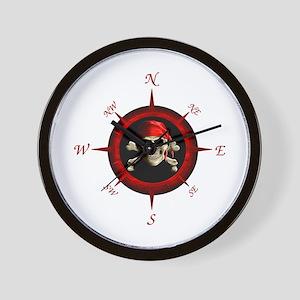 Pirate Compass Rose Wall Clock