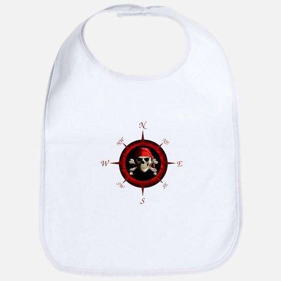 Pirate Compass Rose Bib