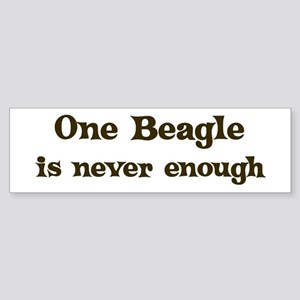 One Beagle Bumper Sticker