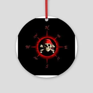 Pirate Compass Rose Ornament (Round)