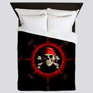 Pirate Compass Rose Queen Duvet