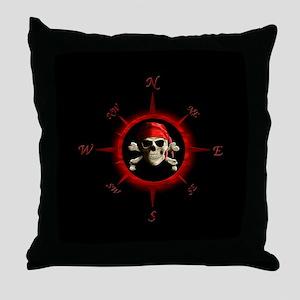 Pirate Compass Rose Throw Pillow