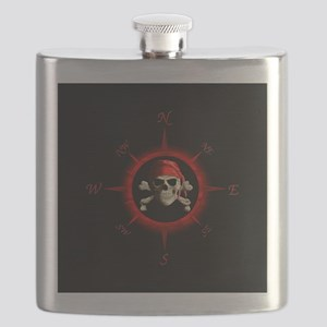 Pirate Compass Rose Flask