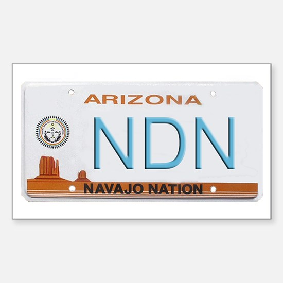 Navajo Nation NDN plate Rectangle Decal