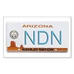 Navajo Nation NDN plate Rectangle Sticker