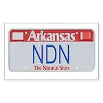 Arkansas NDN Rectangle Sticker
