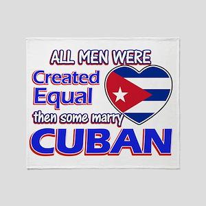 Cuban Wife Designs Throw Blanket