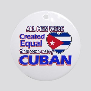 Cuban Wife Designs Ornament (Round)