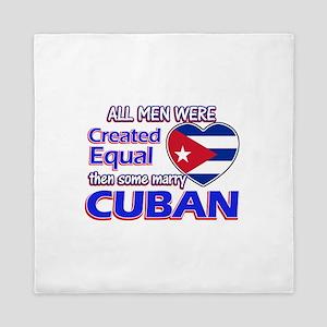 Cuban Wife Designs Queen Duvet