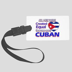 Cuban Wife Designs Large Luggage Tag