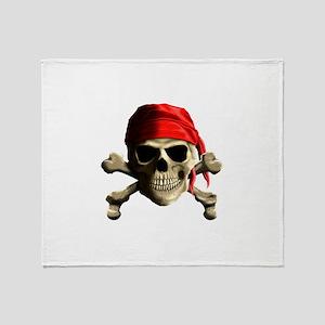 Jolly Roger Throw Blanket
