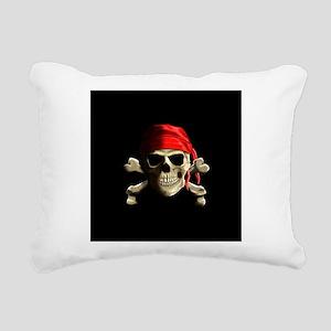 Jolly Roger Rectangular Canvas Pillow