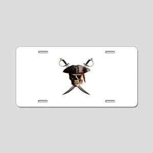 Pirate Skull And Swords Aluminum License Plate