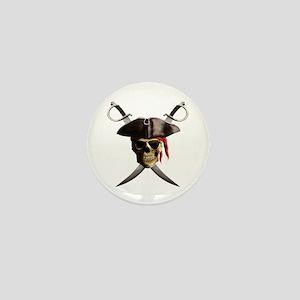 Pirate Skull And Swords Mini Button