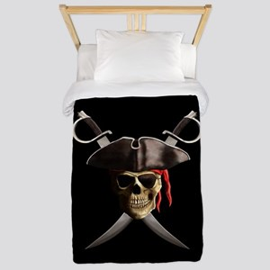 Pirate Skull And Swords Twin Duvet