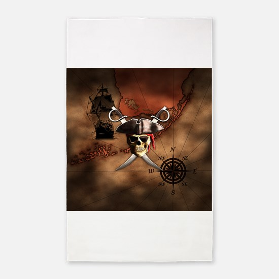 Pirate Map 3'x5' Area Rug