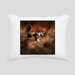 Pirate Map Rectangular Canvas Pillow