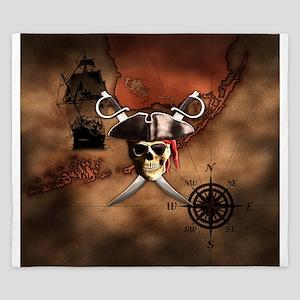 Pirate Map King Duvet