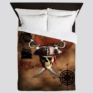 Pirate Map Queen Duvet
