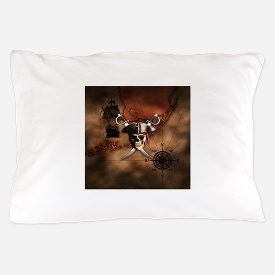 Pirate Map Pillow Case