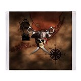 Pirate Fleece Blankets