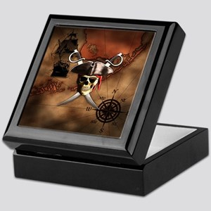 Pirate Map Keepsake Box