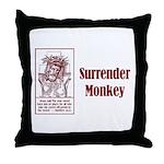 Surrender Monkey Throw Pillow