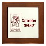 Surrender Monkey Framed Tile