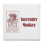 Surrender Monkey Tile Coaster