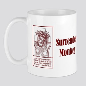 Surrender Monkey Mug