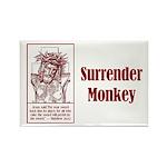 Surrender Monkey Rectangle Magnet (10 pack)