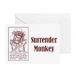 Surrender Monkey Greeting Cards (Pk of 10)