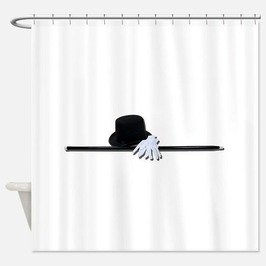 TopHatBlackCaneWhiteGloves073011.pn Shower Curtain