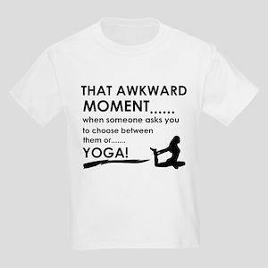 Awkward moment Yoga designs Kids Light T-Shirt