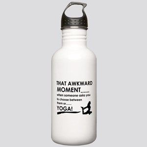 Awkward moment Yoga designs Stainless Water Bottle