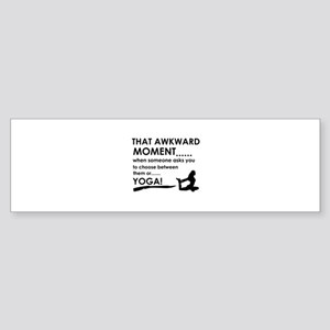 Awkward moment Yoga designs Sticker (Bumper)