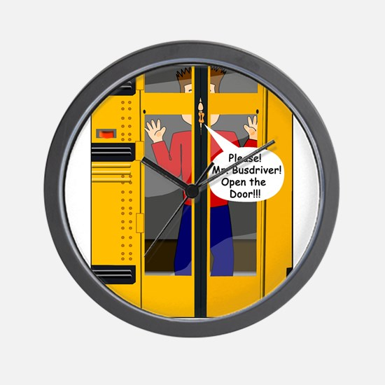 A Bus Ride To Remember Wall Clock