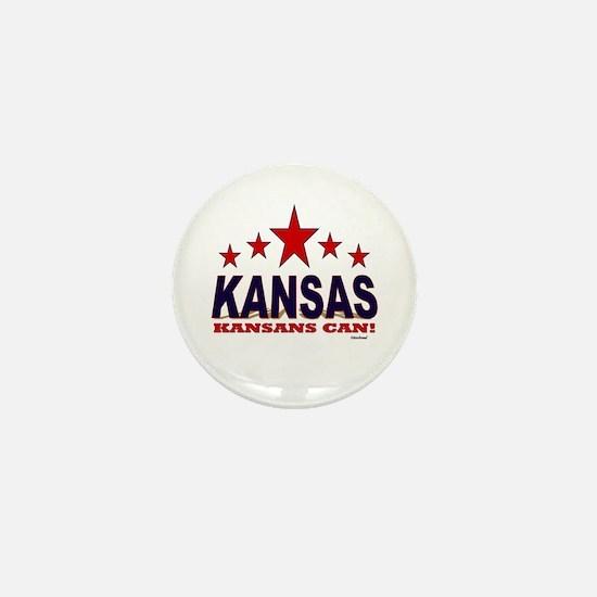 Kansas Kansans Can Mini Button