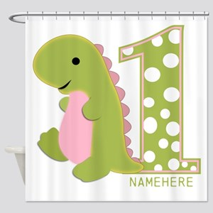 Customized First Birthday Green Dinosaur Shower Cu