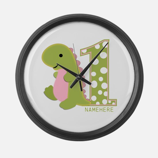 Customized First Birthday Green Dinosaur Large Wal