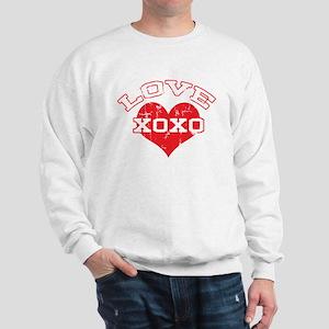 Vintage Collegiate Love Sweatshirt