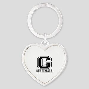 Guatemala Designs Heart Keychain