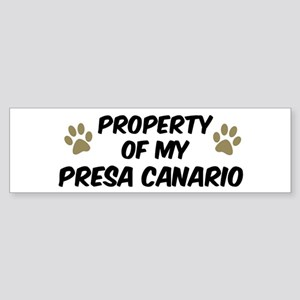 Presa Canario: Property of Bumper Sticker